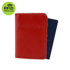 RFID Blocking Passport Cover - Red
