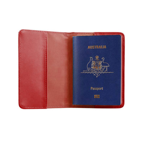RFID Blocking Passport Cover - Red - globitetravel