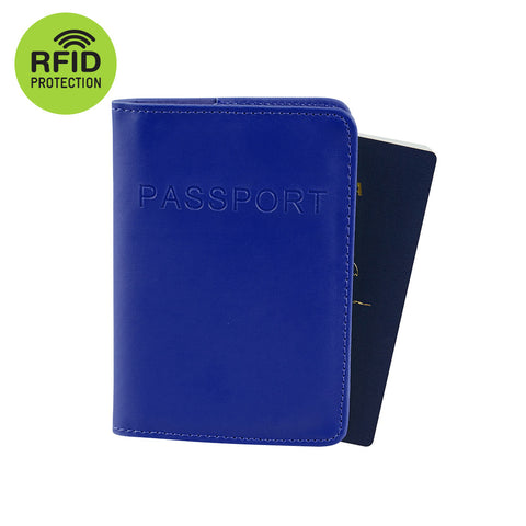 RFID Blocking Passport Cover - Royal