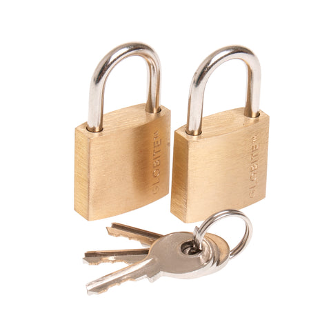 Solid Brass Lock 2pk - globitetravel