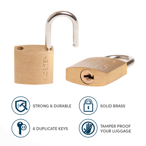 Solid Brass Lock 2 Piece Set - globite