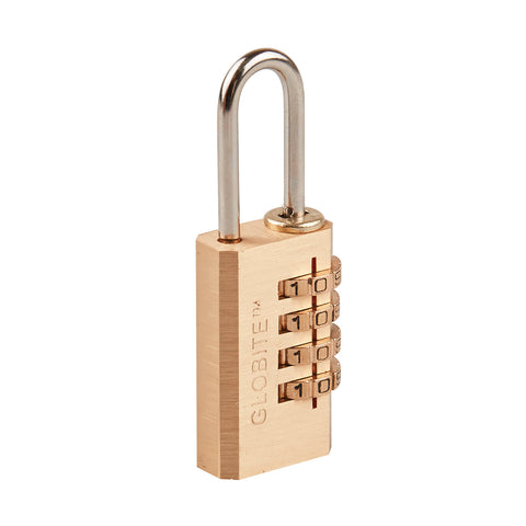 Solid Brass 4 Dial Combination Lock