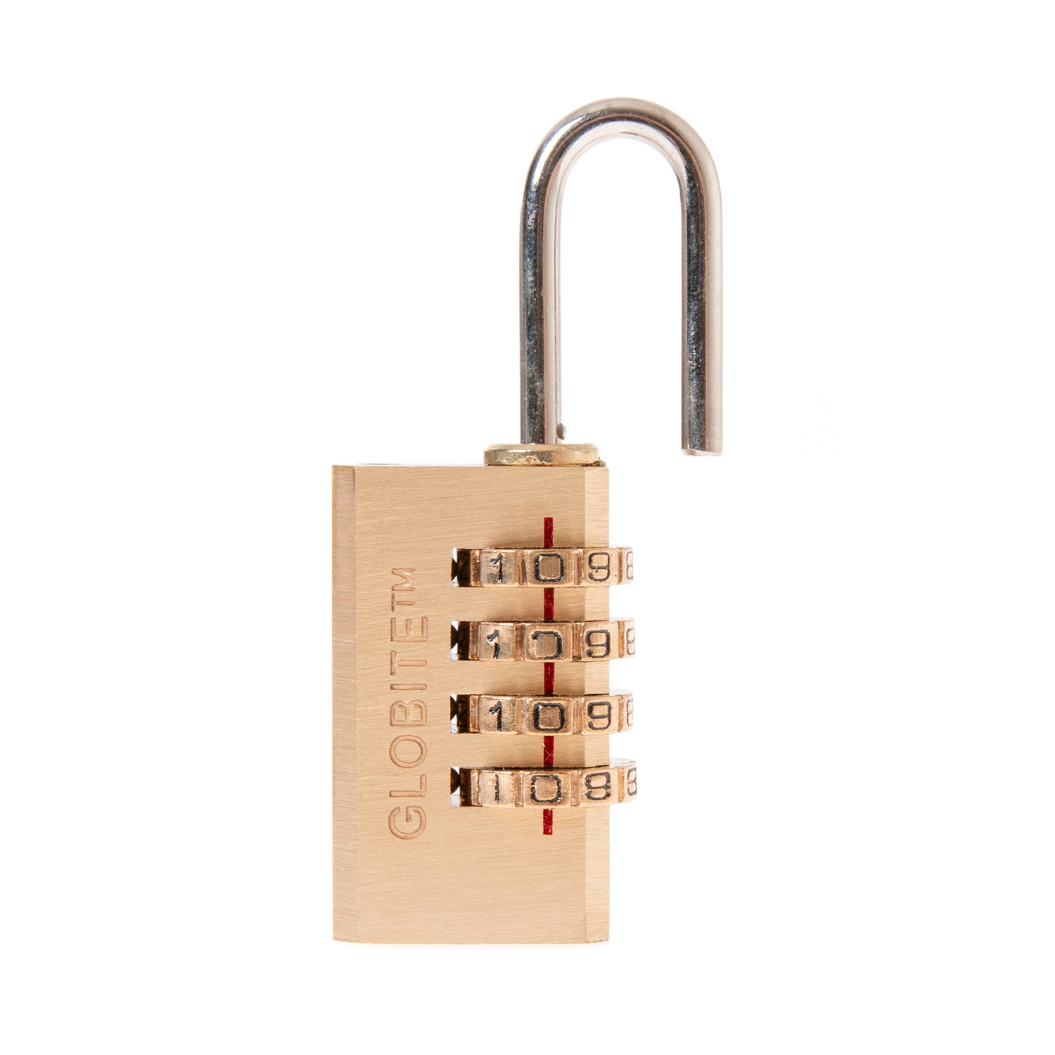 Solid Brass 4 Dial Combination Lock - globite
