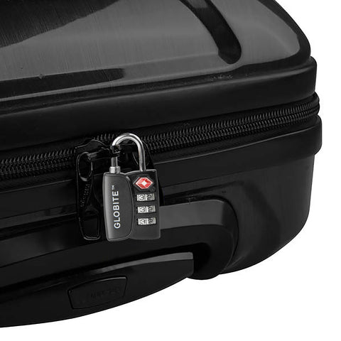 TSA 3 Dial Combination Lock - Black - globitetravel