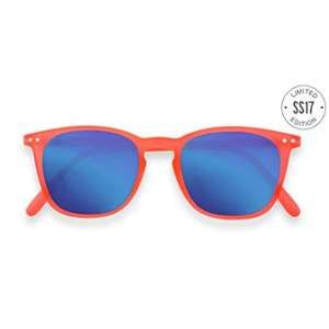 SUN LET ME SEE #E ORANGE SAFRAN CRYSTAL BLUE MIRROR LENSES +0.00
