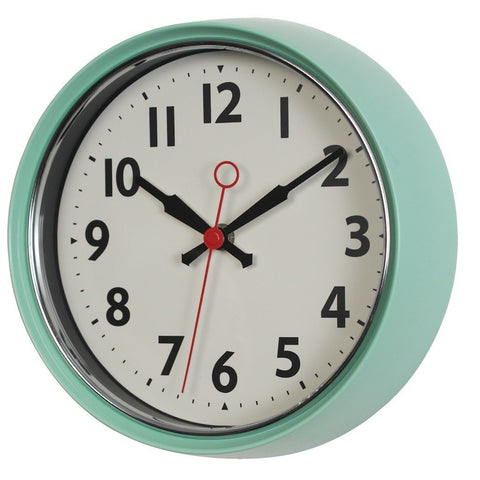 MINT FIFTIES STYLE METAL WALL CLOCK (26081)