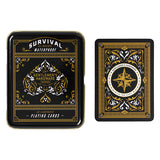 SURVIVAL PLAYING CARDS IN TIN (GEN111)