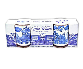 BLUE WILLOW EGG CUPS SET OF 2 (GR370009)