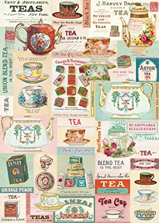 VINTAGE TEA WRAP SHEET (WRAP/VINTEA)