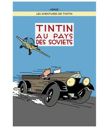 POSTER COVER 01 - TINTIN SOVIETS COLOR