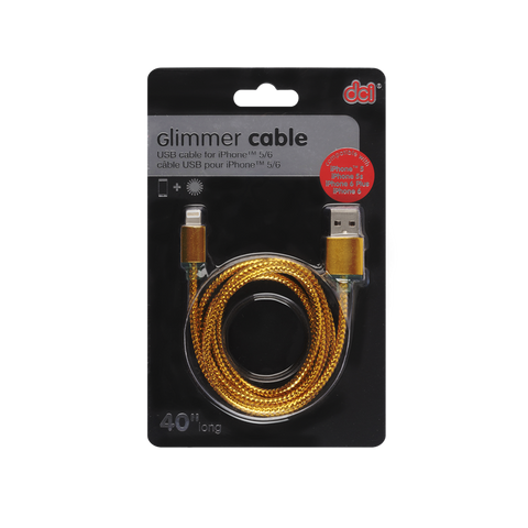 GLIMMER CABLE FOR IPHONE (50672)