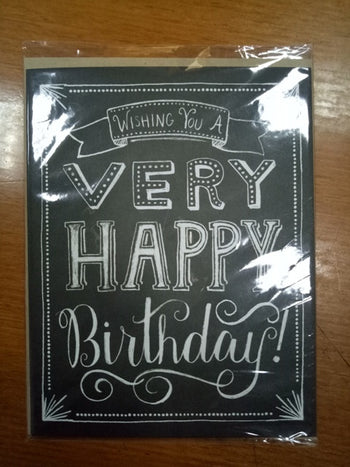 BIRTHDAY CHALKBOARD HALF SHEET (44379450B)