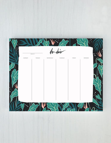 LUSH GREENS WEEKLY DESK PAD (NTP-010)