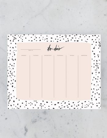 SPECKLED WEEKLY DESK PAD (NTP-012)