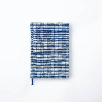 PLAIN PAPER: INDIGO WHITE STRIPED HANDSPUN NB
