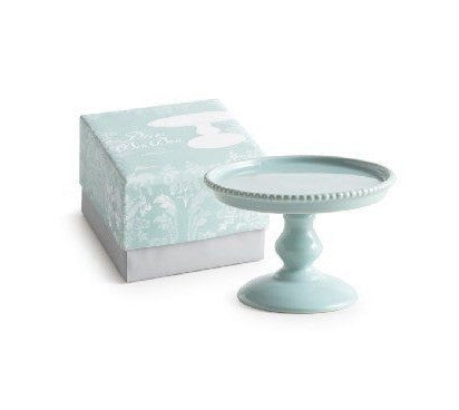 "DECOR BON BON TEAL 5"" PEDESTAL"
