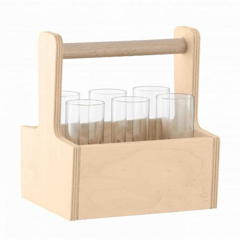 NOMAD VODKA SET 80ML CLEAR/BIRCH PLYWOOD (G1344-06-301)