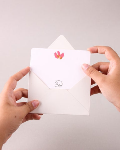 BLANK CARD PINK LILIES