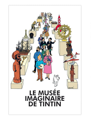 POSTER : THE IMAGINARY MUSEUM OF TINTIN 40X60cm (23004)