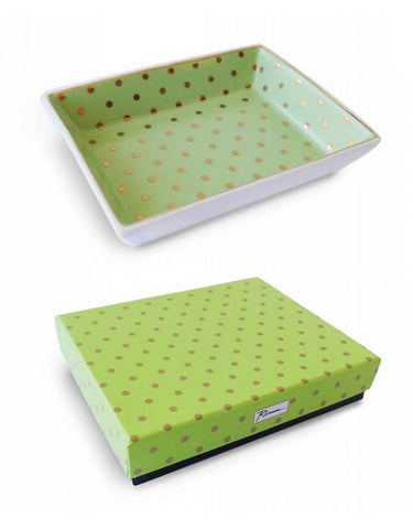 LADIES CHOICE TRAY GREEN/GOLD