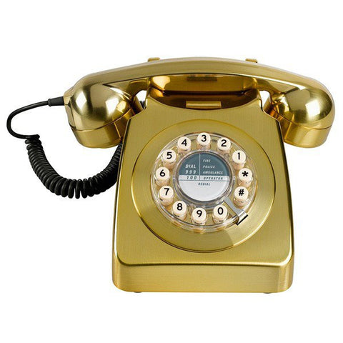 746 Brushed Telephone - Brass