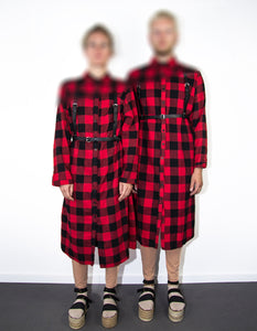 P+C - CHECKERED OVERSIZED BLOUSE - NOBODY HAS TO KNOW