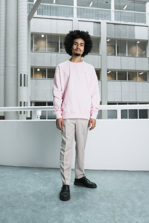 Graphic logo pink sweater [drop] - NOBODY HAS TO KNOW