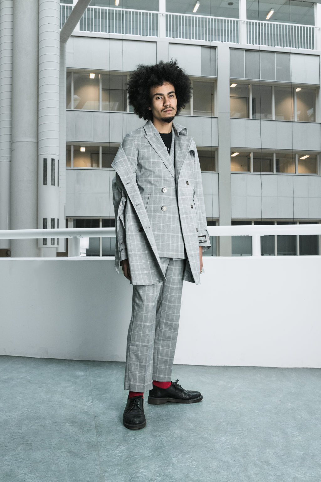 Checked tailored blazer [drop] - NOBODY HAS TO KNOW