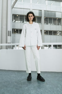 White straight cut denim pants [essential] - NOBODY HAS TO KNOW