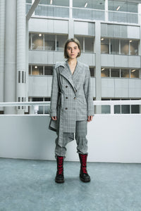 Checked straight cut trenchcoat [drop] - NOBODY HAS TO KNOW