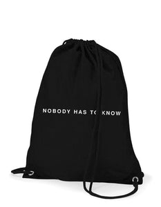NOBODY HAS TO KNOW extra light back pack