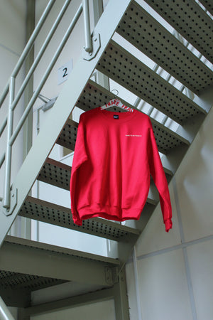 Sweater DARE TO BE FRAGILE red [drop] - NOBODY HAS TO KNOW