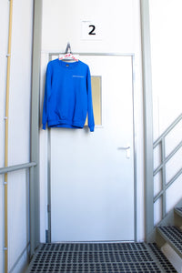 Sweater DARE TO BE FRAGILE royal blue [drop] - NOBODY HAS TO KNOW
