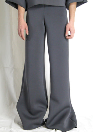 Wide leg pants neoprene - NOBODY HAS TO KNOW