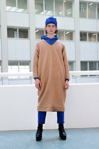Camel knit dress wool [drop] - NOBODY HAS TO KNOW