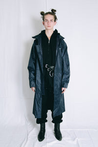 Graphic logo raincoat