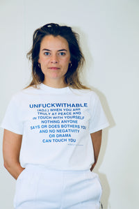 Tee THE UNFUCKWITHABLES white 1 - NOBODY HAS TO KNOW