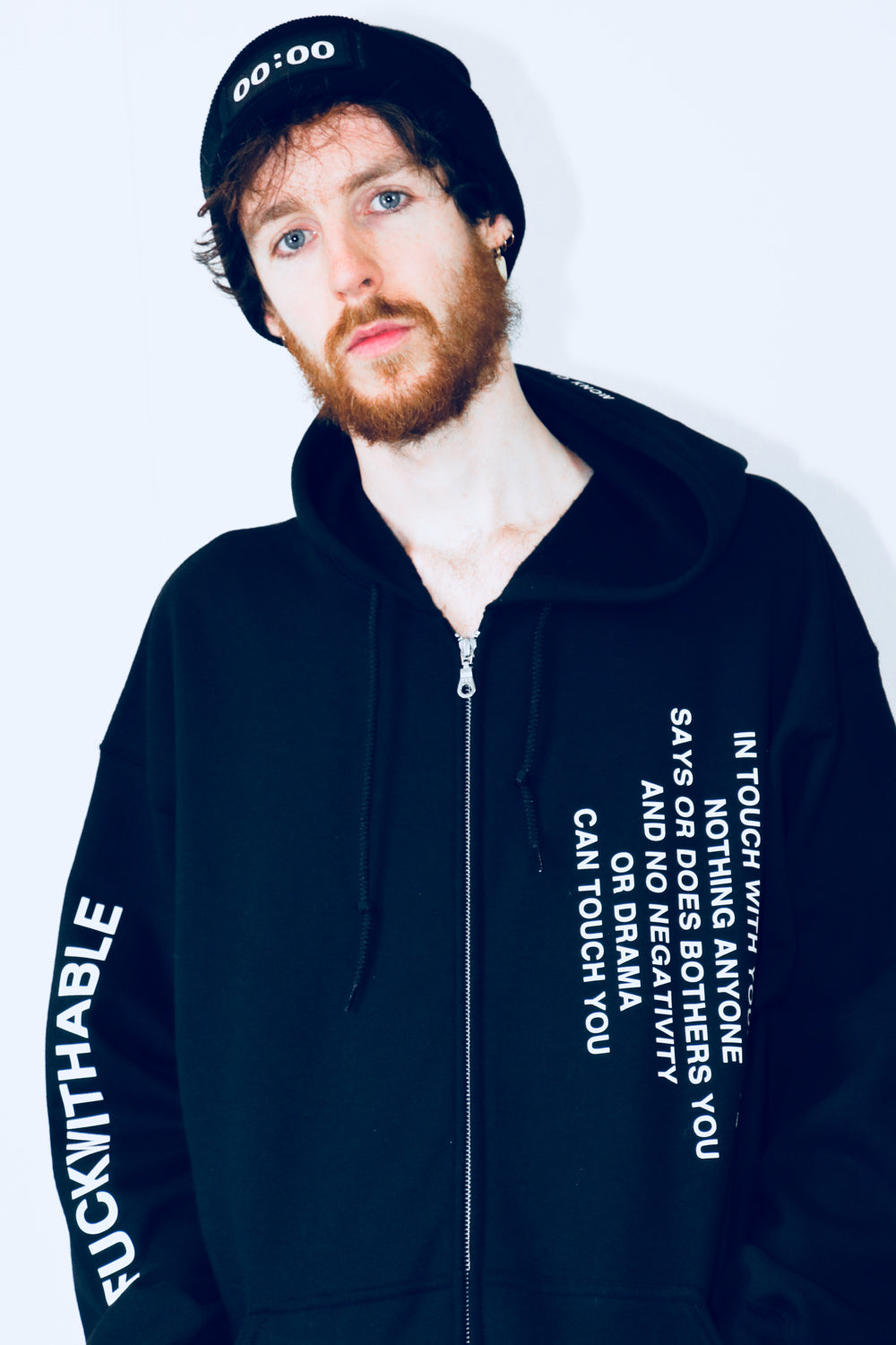 Zip hoodie THE UNFUCKWITHABLES black 4 - NOBODY HAS TO KNOW