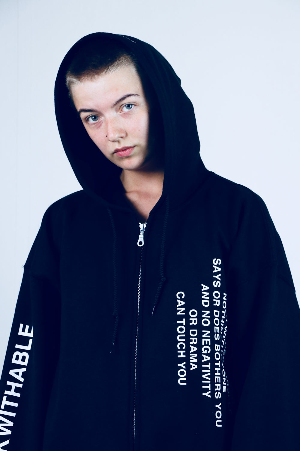 Zip hoodie THE UNFUCKWITHABLES black 5 - NOBODY HAS TO KNOW