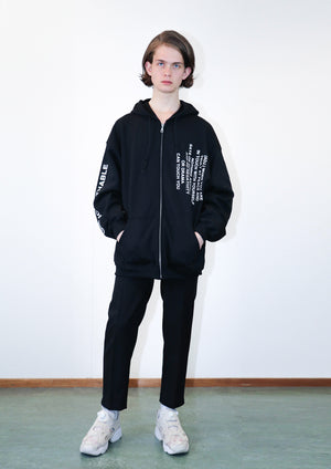 Graphic logo straight cut pants THE UNFUCKWITHABLES black [capsule] - NOBODY HAS TO KNOW