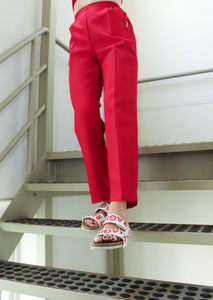 High waisted pants red [drop] - NOBODY HAS TO KNOW
