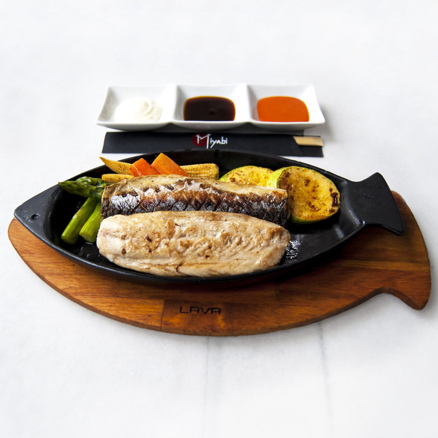 Mackerel Teppanyaki