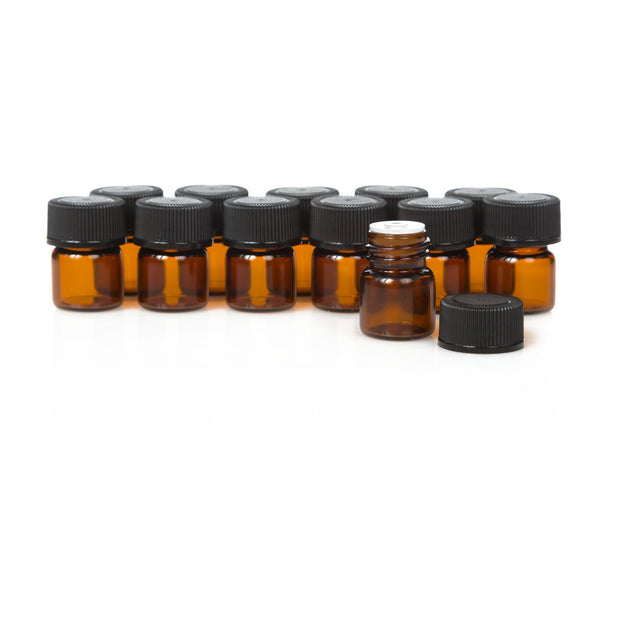 1/4 Dram Amber Glass Sample Vials - Oil Life