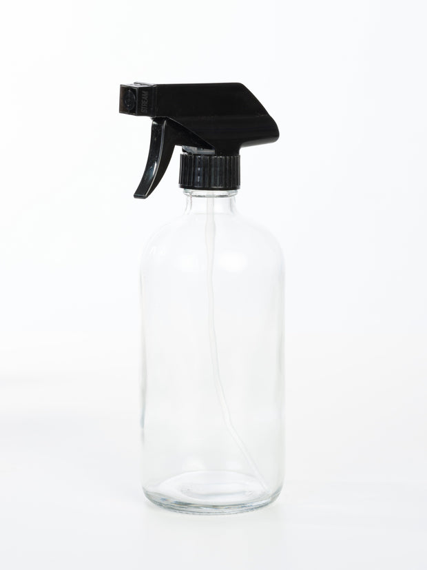 16 oz Glass Trigger Sprayer Bottle - 5 Colors Available - Oil Life