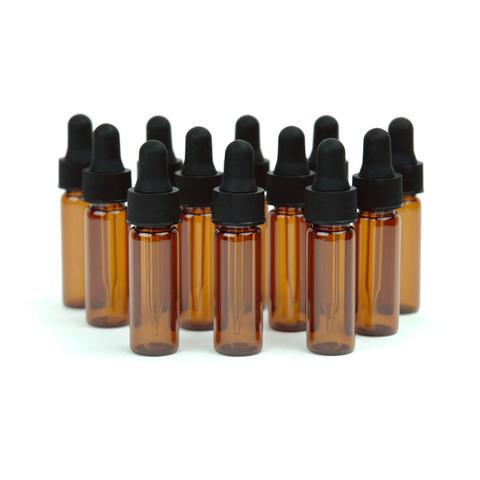1 Dram Amber Glass Vials - Oil Life