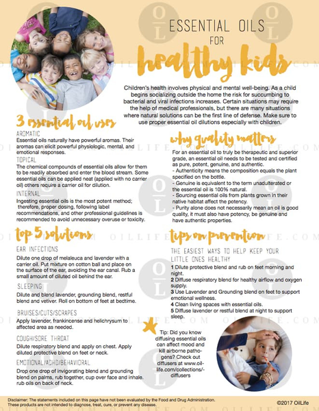 Essential Oils for Healthy Kids (Download)