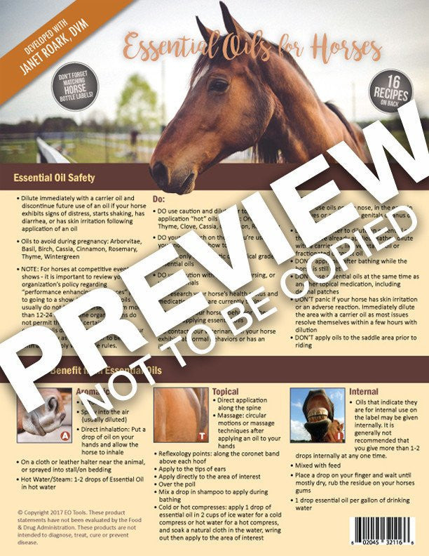 Essential Oils - Horses Tear Pad