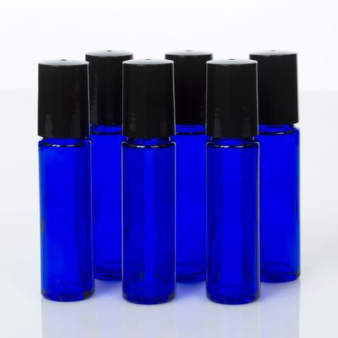 10 ml Glass Bottles with PLASTIC Roller Tops - Oil Life