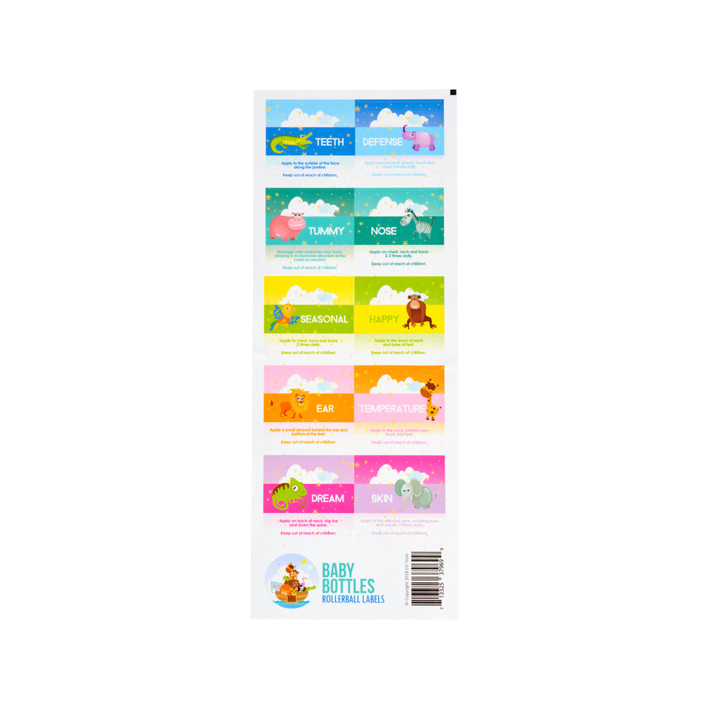 Baby Bottle Rollerball Label Sheet