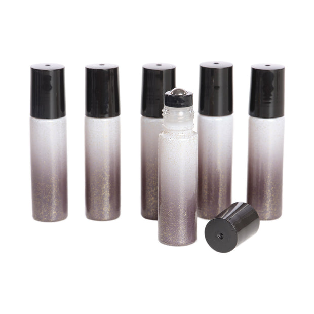 Sparkled Ombre Rollers w/Stainless Steel Rollers -6pk